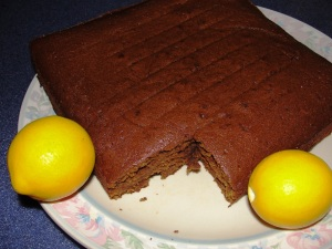 Meyer lemon zesty gingerbread