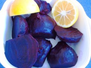 lemons and roasted beets