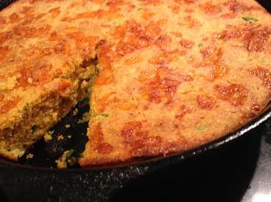 baked pan of cornbread